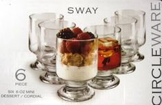 Circle Ware Sway 6 Piece Mini Dessert Cordials 6Oz, 2015 Amazon Top Rated Cordial & Liqueur Glasses #Kitchen