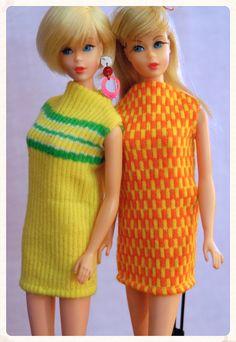 Hair Fair Barbie and Twist n' Turn Barbie Malibu Barbie, Barbie Go, Barbie World, Barbie And Ken, Barbie Skipper, Vintage Barbie Kleidung, Vintage Barbie Clothes, Vintage Dolls, Doll Clothes