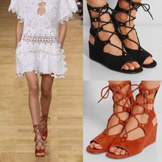 Rome Style Strings Front Wedge Sandals