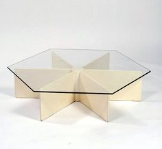 Pierre Paulin; #T878 Lacquered Wood and Glass Coffee Table for Artifort, 1967.