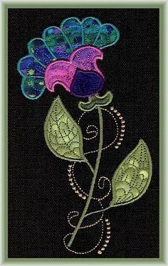 Applique Jacobean Flair - Erinas Designs | OregonPatchWorks
