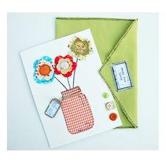 Carte bouquet de fleurs avec enveloppe carte par EphemereCollection