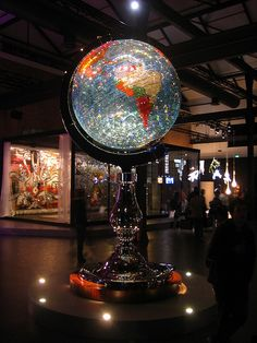 globe made of Swarovski crystals