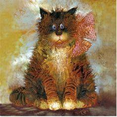 Невероятные коты питерской художницы Галины Чувиляевой — Кошачьи истории Painting, Image, Painting Art, Paintings, Painted Canvas, Drawings