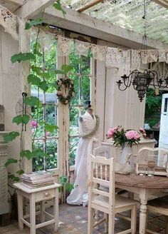 If you wish to understand how to do shabby chic design then roses are the best way to go. The shabby style is about recycling and upcycling, and such tutorials will definitely be convenient for you! In conclusion, the shabby… Continue Reading → Jardin Style Shabby Chic, Shabby Chic Veranda, Shabby Chic Kitchen Curtains, Casas Shabby Chic, Shabby Chic Porch, Shabby Chic Living Room, Shabby Chic Interiors, Shabby Chic Bedrooms, Shabby Chic Furniture