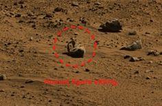 Human figure in mars