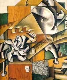 """""""Ivan Kliun (Russian, ozonateur, Huile et collage sur toile, 75 x 66 cm. Marc Chagall, Kandinsky, Henri Matisse, Russian Avant Garde, Avant Garde Artists, Cubism Art, Socialist Realism, Academic Art, Collage"""