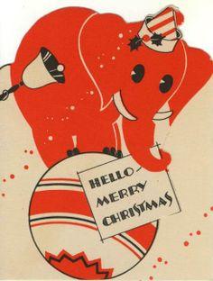 Vintage Children's Christmas Card