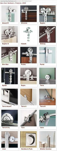 The best DIY projects & DIY ideas and tutorials: sewing, paper craft, DIY. DIY Furniture Plans & Tutorials : variety of track door hardware for doors and showers. Sliding Barn Door Hardware, Sliding Doors, Door Hinges, Door Design, House Design, Track Door, Interior Barn Doors, Windows And Doors, Home Projects