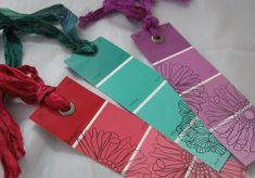 Bookmarks made from paint chips