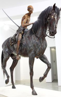 The Specter : by Japanese artist : Motohiko Odani Contemporary Sculpture, Contemporary Art, Musée Rodin, The Uncanny, Equine Art, Japanese Artists, Installation Art, Art Installations, Public Art