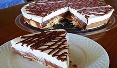Απίστευτη Τούρτα για όλες τις περιστάσεις!!! Εύκολη,πεντανόστιμη, ξερφορμάρεται πανεύκολα και με βγάζει ασπροπρόσωπη κάθε φορά!!! Cold Desserts, No Bake Desserts, Sweets Recipes, Cake Recipes, Food Network Recipes, Food Processor Recipes, Low Calorie Cake, Greek Sweets, Icebox Cake