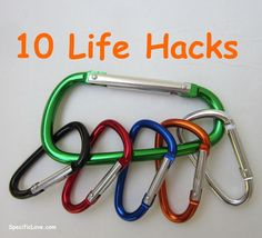 10 Life Hacks with Carabiners