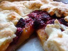 Peach Raspberry Tart.....summer's on its way!