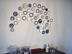 Plate Wall Art...clever!