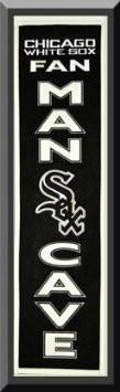 Heritage MAN CAVE Banner Of Chicago White Sox -Framed