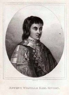 Either Anthony Woodville Earl Rivers (Elizabeth Woodville's Brother) or Richard Woolville (Elizabeth Woodville's Stepfather, Jaquetta of Luxemburg's husband)