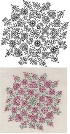 Blackwork Pattern 1 of 3 Motifs Blackwork, Blackwork Cross Stitch, Blackwork Embroidery, Cross Stitching, Cross Stitch Embroidery, Embroidery Patterns, Hand Embroidery, Filet Crochet, Cross Stitch Designs