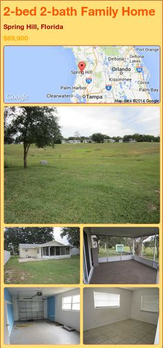 2-bed 2-bath Family Home in Spring Hill, Florida ►$69,900 #PropertyForSale #RealEstate #Florida http://florida-magic.com/properties/79398-family-home-for-sale-in-spring-hill-florida-with-2-bedroom-2-bathroom