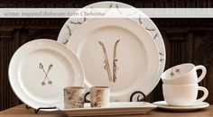 Winter Inspired Dishware from Chehoma Norway Design, Fine Linens, Bath, Winter Theme, Unique Home Decor, Decoration, Luxury Bedding, Brown And Grey, Home Projects