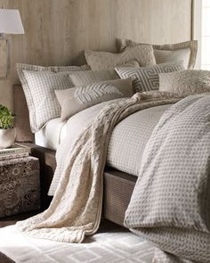 """""""Windy Point"""" Bed Linens by Amity Home at Horchow."""