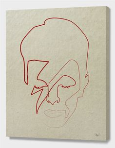 """""""One line David Bowie"""", Numbered Edition Canvas Print by quibe - From $69.00 - Curioos"""