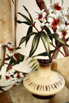 retro vintage ivory bamboo lamp - Homeworks Design Store