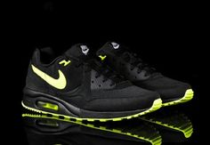 NIKE AIR MAX LIGHT - BLACK/VOLT - A new colorway of the Nike Air Max Light has been released this weekend. Now available at Nike Sportswear retailers and online through afew.    Source: Highsnobiety