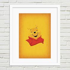 Printable art winnie the pooh full set nursery art by theretroinc w
