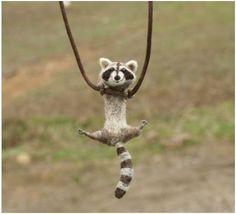 Tiny Swinging Felt Animal Jewelry by Motley Mutton