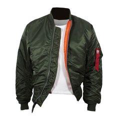 ALPHA Industries MA-1 Jacke sage-green Pilotenjacke Bomberjacke Jacke grün in Kleidung & Accessoires, Herrenmode, Jacken & Mäntel | eBay