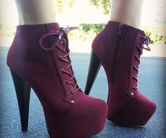 red laced/zipper heels | via Facebook