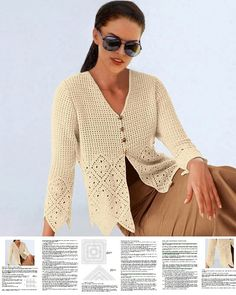 Crochet jacket PATTERN casual crochet jacket от FavoritePATTERNs