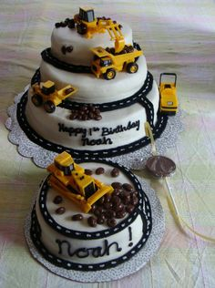 Big Truck Birthday Cakes | Loving these birthday cake created by Cakes by Christine .
