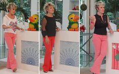 Quer entrar na moda neon? Copie os looks da Ana Maria Braga, que arrasou com as calças rosa e vermelha!