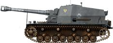 The Panzerjäger-Abteilung 521 tank hunter battalion on the Eastern Front was sent the only surviving 10.5cm K 18 auf Panzer-Selbstfahrlafette-IVa Dicker Max self-propelled gun for combat trials in May 1941. The crew called it 'Brummbaer'