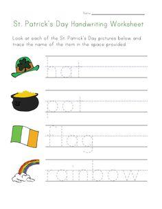 St. Patrick's Day worksheets...printable