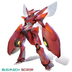 Hi Guys,With great pride I present this series of characters known as BUGMECHS, and now in the pokemon version. I'm a big fan of the pokemon series, and that's my tribute. I love draw robots and I love pokemon characters. 3d Pokemon, Pokemon Realistic, Pokemon Fan Art, Pokemon Fusion, Cool Pokemon, Fantasy Character Design, Character Concept, Character Inspiration, Character Art