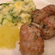 Homemade Pork Sausages with apple sauce and Colcannon by Rachel Allen Indonesian Recipes, Indonesian Food, Pork Sausages, Pork Sausage Recipes, Rachel Allen, Good Food, Yummy Food, Apple Sauce, Ground Meat