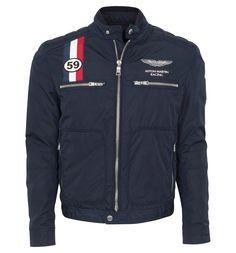 hackett aston martin racing moto plan biker style jacket. Black Bedroom Furniture Sets. Home Design Ideas