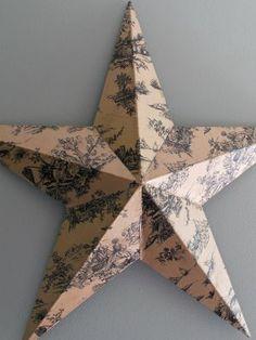 Decoupage a Barn Star | | Blissfully DomesticBlissfully Domestic