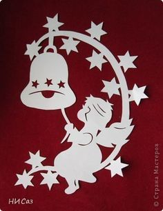 And another New Year's photo 4 - Weihnachten Christmas Stencils, Christmas Templates, Christmas Paper, Christmas Angels, Christmas Holidays, Christmas Decorations, Christmas Ornaments, Kirigami, Diy And Crafts