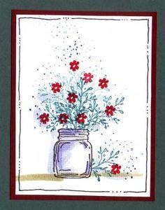 Sprig Jar Card