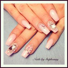 Light Pink by Nanasnails via @nailartgallery #nailartgallery #nailart #nails #acrylic