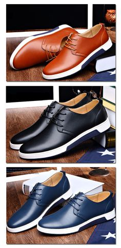 8672d26a89e48 Casual Leather Fashion Trendy Flat Shoes