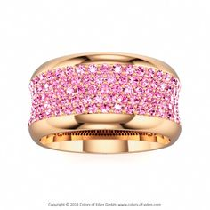 Pink Sapphire Rose Gold Ring Coquette at Colors of Eden