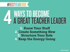 4 ways to become a great teacher leader