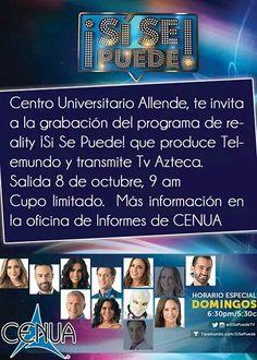 #cenua te lleva al programa de televisión Sí se Puede de Telemundo y Tv Azteca #cenua18años