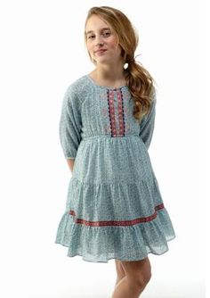Lucky Brand  Marni Flounce Dress Girls 7-16