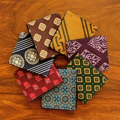 Cool Jetsam wallets made from old ties and tweeds. Good for the planet and up cycled and all that righteous stuff. Tie Crafts, Sewing Crafts, Sewing Projects, Fabric Crafts, Old Ties, Best Wallet, Best Christmas Gifts, Crochet, Crafty